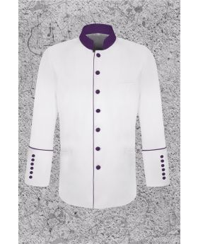 Men's White Frock Clergy Coat