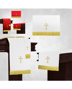 Reversible White and Red Church Parament Sets