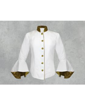 Female White and Gold Clergy Jacket