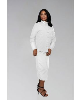 Ladies White Preacher Clergy Suit