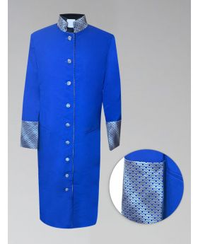 Women's Royal and Gold Custom Brocade Clergy Robe