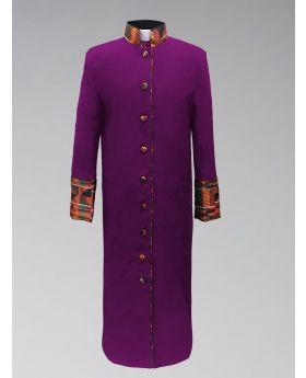 Ladies Purple Kente Cloth Clergy Robe