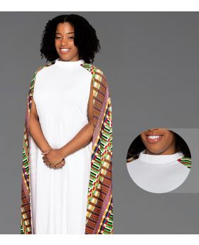 Modern Clergy Dress White with Kwangali Cape